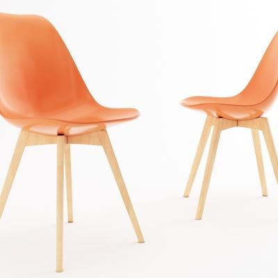 现代实木塑料单椅3D模型【ID:228424454】