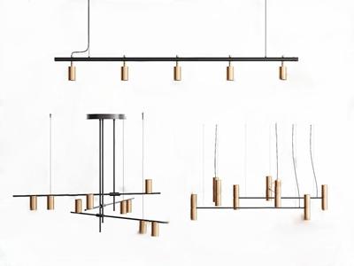 現代輕奢創意吊燈3D模型【ID:732391808】
