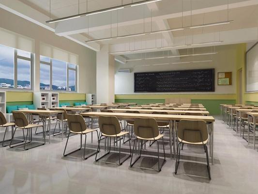 學校教室3D模型【ID:527860857】