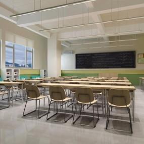 学校教室3D模型【ID:527860857】