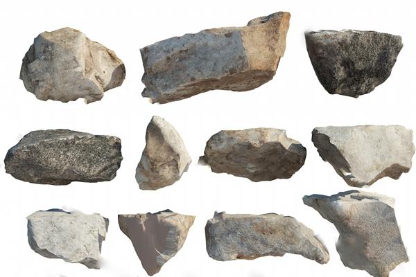 现代石头3D模型【ID:124898200】