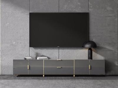 现代电视柜3D模型【ID:920830013】