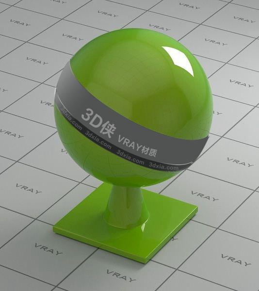 綠色車漆Vray材質【ID:836407213】