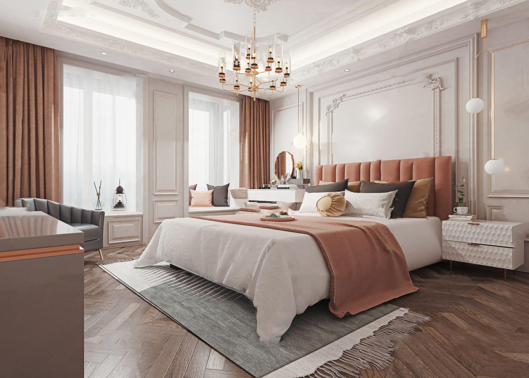 法式卧室3d模型