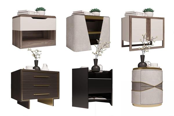 現代床頭柜3D模型【ID:928186624】