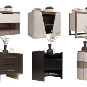 现代床头柜3D模型【ID:928186624】