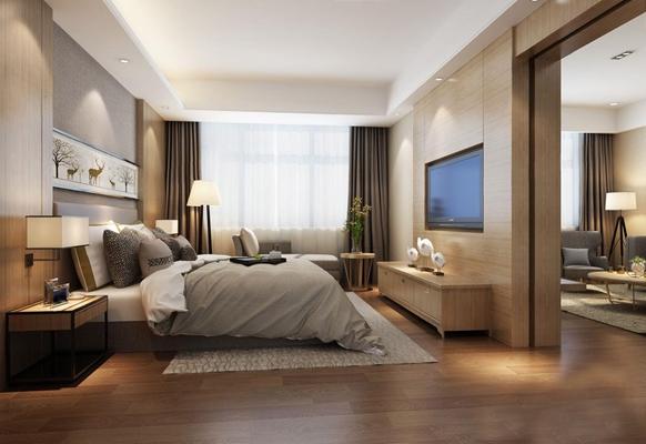 現代客房套間3D模型【ID:427963694】