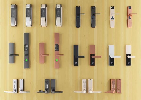 现代智能指纹密码锁3d模型