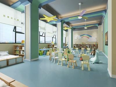 幼儿园教室3D模型【ID:934269662】