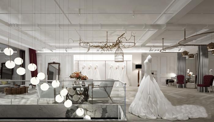 现代婚纱店3D模型【ID:724880557】