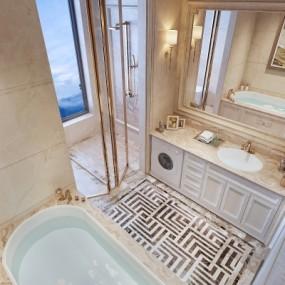 欧式卫生间浴室3D模型【ID:128414694】