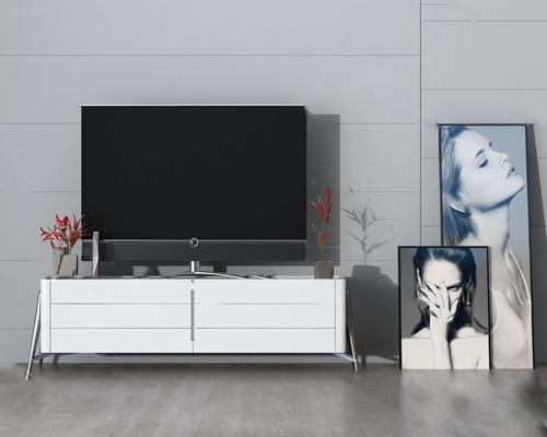 现代电视柜3D模型【ID:920617043】