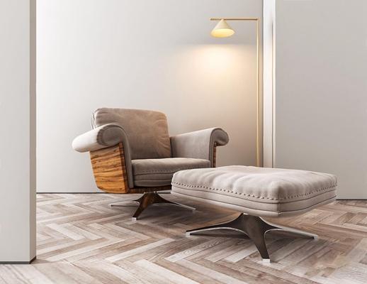 北欧单人休闲沙发3D模型【ID:928209639】