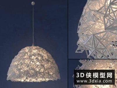 三角形元素吊燈模型國外3D模型【ID:829351780】