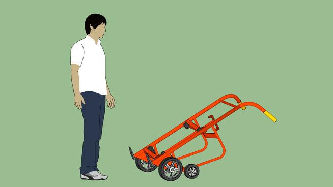 工业系列-设备-容器-鼓-韦斯科分配鼓车SU模型【ID:939383537】