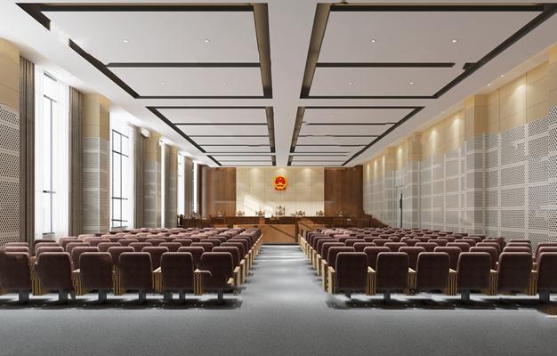 现代法院3D模型【ID:220602859】