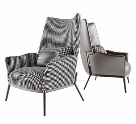 北欧单人休闲沙发3D模型【ID:928340609】