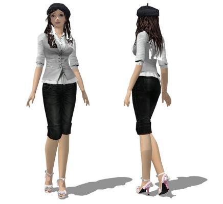 3D女人物SU模型【ID:145619779】