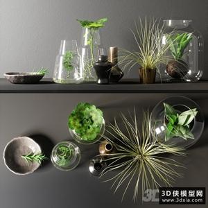裝飾品組合國外3D模型【ID:929322823】