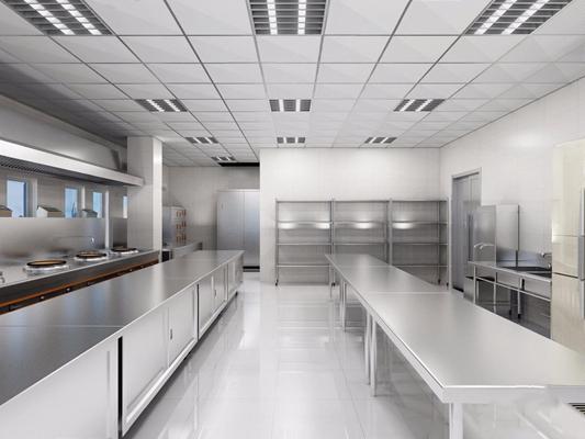 工装厨房3D模型【ID:828146513】