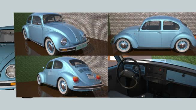 大众轿车甲壳虫2004最后版本麦斯威尔纹理化SU模型【ID:839385447】
