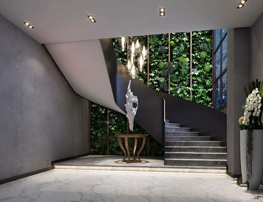 现代楼梯间3D模型【ID:728108905】