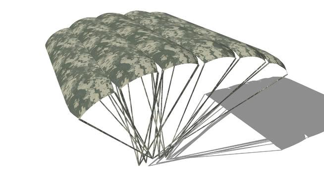降落傘SU模型【ID:839386525】