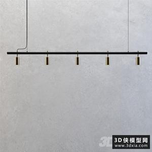 現代餐廳吊燈國外3D模型【ID:829327784】