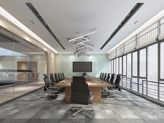 现代会议室3D模型【ID:728099862】