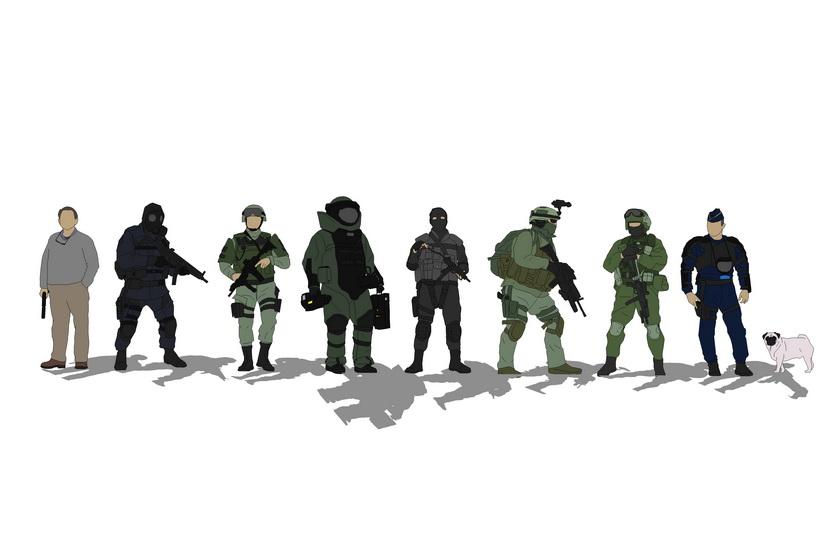 士兵SU模型【ID:836331005】