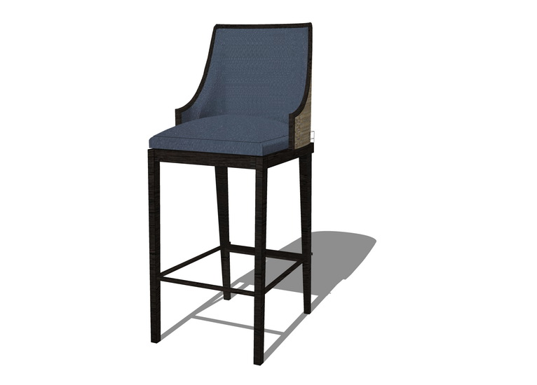吧台椅子SU模型【ID:936331429】