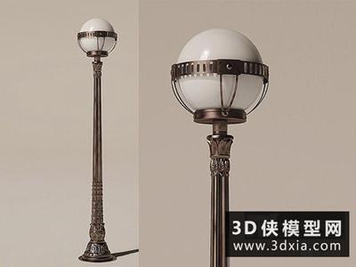 欧式路灯国外3D模型【ID:929665202】