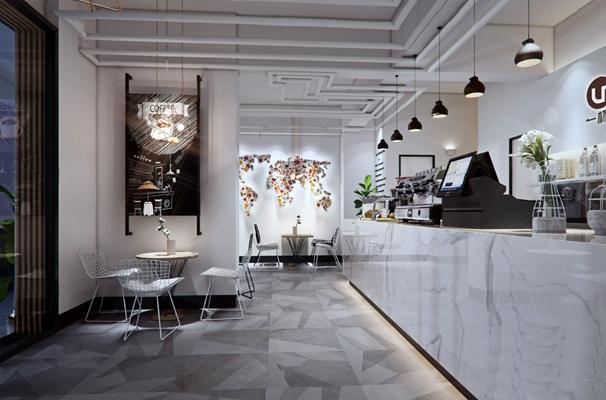 咖啡厅3D模型【ID:320009601】