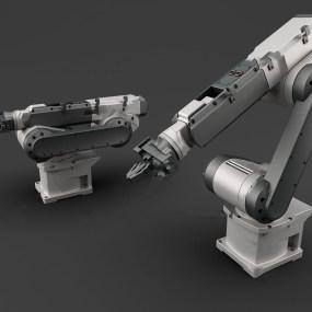 现代工业设备自动化机械手3d模型【ID:443349320】