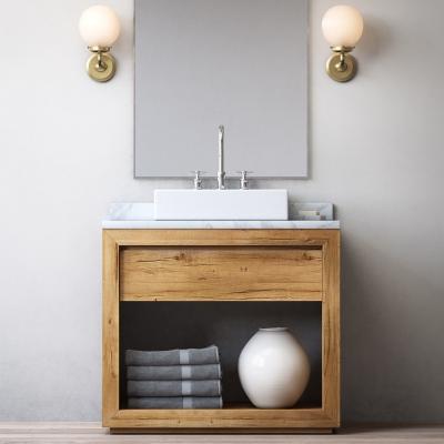 北欧实木台盆洗手台3D模型【ID:728471711】