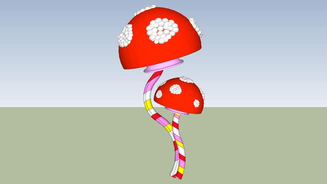 旺卡巨型糖果蘑菇SU模型【ID:837242074】