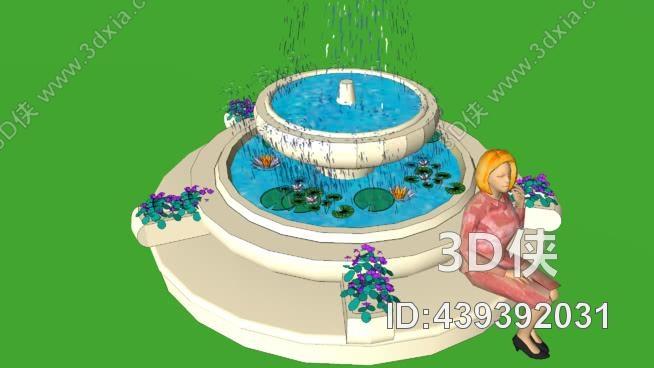 水景道具SU模型【ID:439392031】