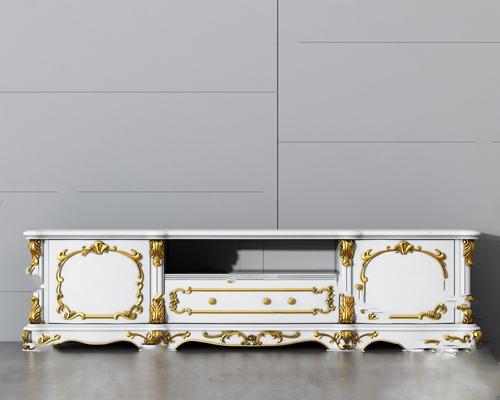 欧式电视柜3D模型【ID:920619012】