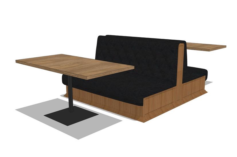 卡座餐桌SU模型【ID:636332633】
