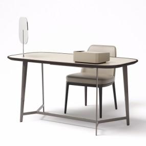 现代书桌椅3D模型【ID:128414901】