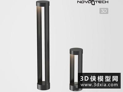 現代景觀落地燈國外3D模型【ID:929356296】