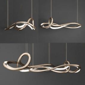 现代艺术吊灯3D模型【ID:736238825】