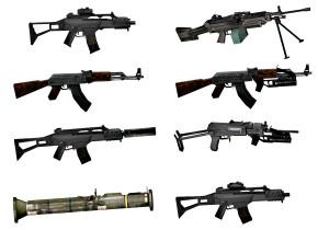 现代机枪冲锋枪组合3D模型【ID:927815388】
