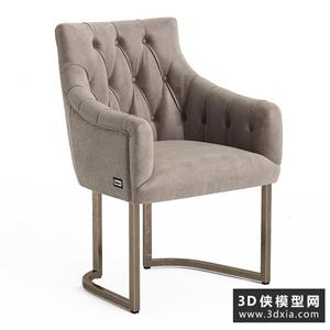 现代椅子国外3D模型【ID:729316816】