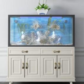 现代鱼缸3D模型【ID:627806708】
