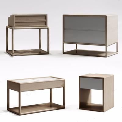 新中式床头柜3D模型【ID:928206623】