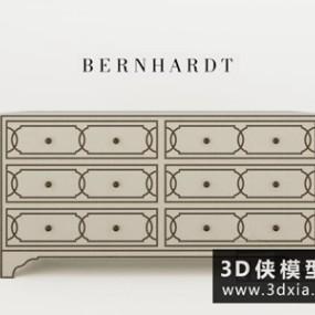 新古典装饰柜国外3D模型【ID:829728014】