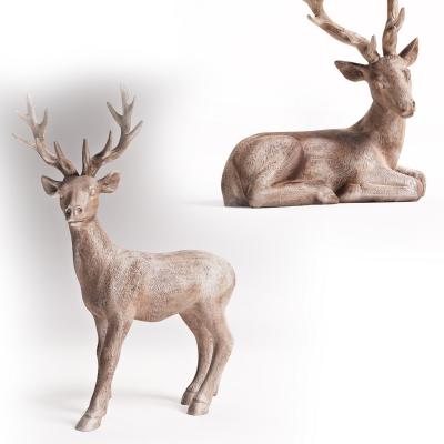 现代鹿雕塑3D模型【ID:327793892】