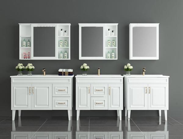 简欧浴室柜洗手台3D模型【ID:147179895】
