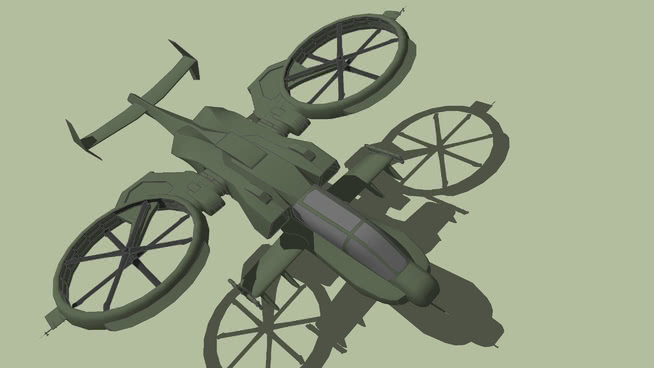 AH-88猛禽VTL武�b直�{�c不由�D身看去升�CSU模型【ID:839399573】